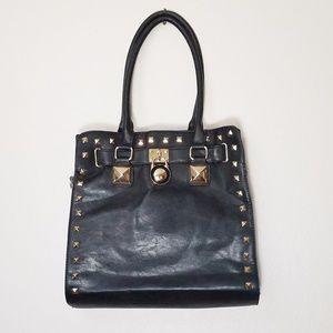 Handbags - Black Pyramid Studded Shoulder Bag Purse